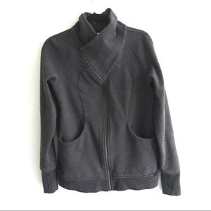 LULULEMON Full Zip Crossover Collar Jacket Grey 12